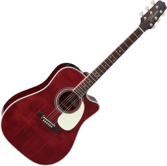 Takamine JJ325SRC John Jorgenson Dreadnought Acoustic Electric Guitar Gloss Red Satin B-Stock