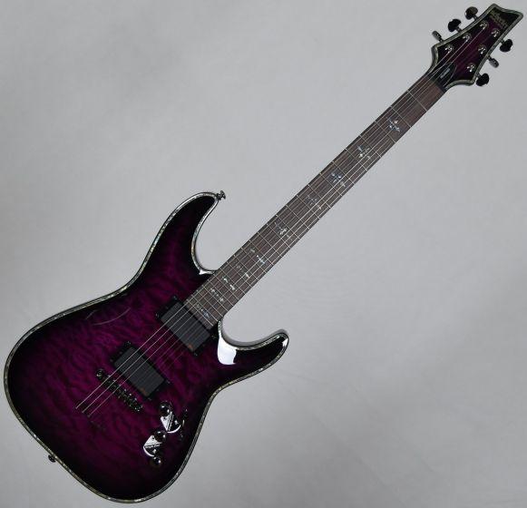 Schecter Hellraiser C-1 Electric Guitar in Trans Purple Burst Finish