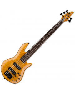 ESP LTD H-1005SE Burled Maple 5 String Electric Bass Honey Natural B-Stock LH1005SEBMHN.B