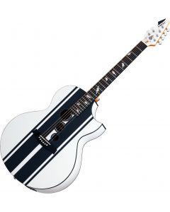 Schecter DJ Ashba Signature Acoustic Electric Guitar Satin White SCHECTER3718