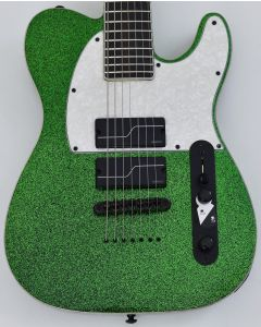 ESP LTD SCT-607 Baritone Stephen Carpenter Electric Guitar Green Sparkle