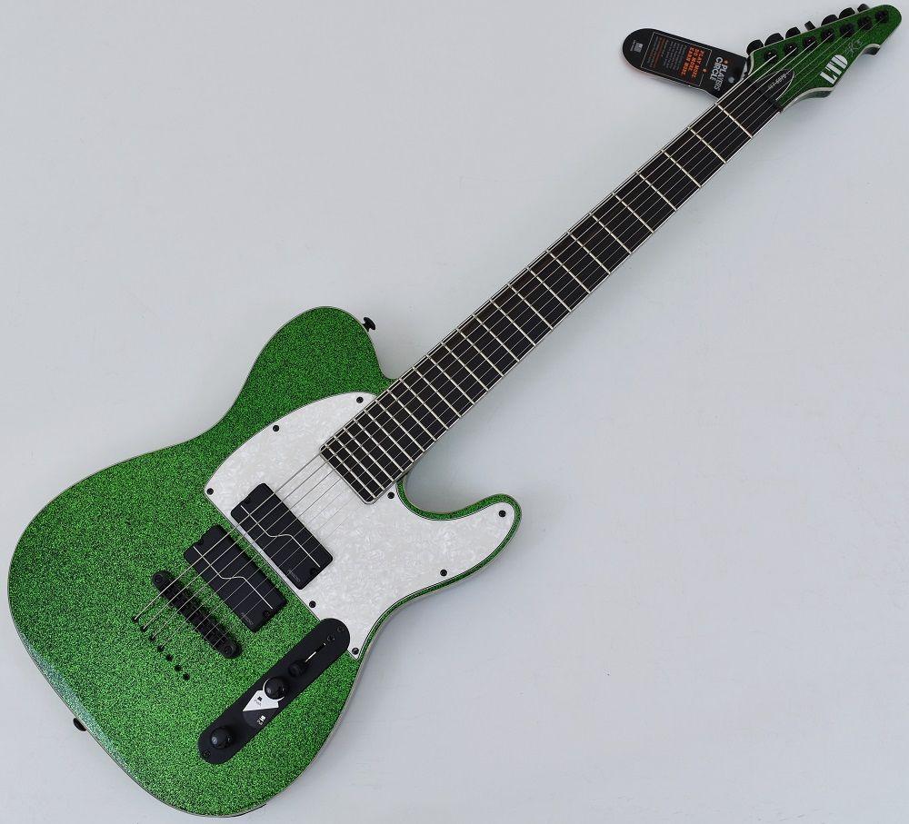 esp ltd sct 607 baritone stephen carpenter electric guitar green spark. Black Bedroom Furniture Sets. Home Design Ideas