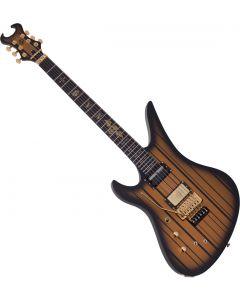 Schecter Custom-S Left-Handed Electric Guitar Satin Gold Burst SCHECTER1744