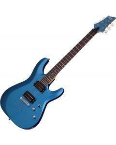 Schecter C-6 Deluxe Electric Guitar Satin Metallic Light Blue  SCHECTER431