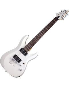 Schecter C-7 Deluxe Electric Guitar Satin White  SCHECTER438