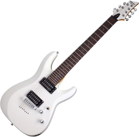 Schecter C-7 Deluxe Electric Guitar Satin White