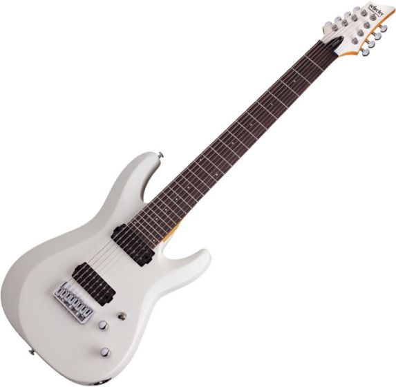 Schecter C-8 Deluxe Electric Guitar Satin White