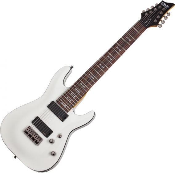 Schecter Omen-8 Electric Guitar in Vintage White Finish