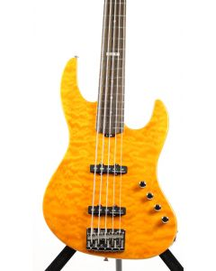 ESP E-II J-5 QM Quilted Maple Amber Bass Guitar