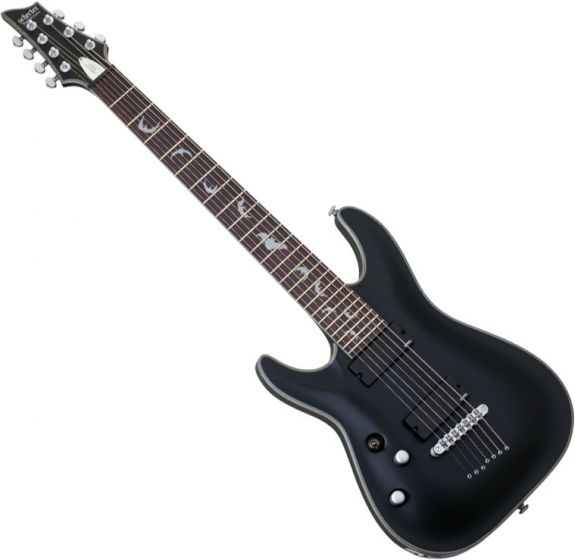 Schecter Damien Platinum-7 Left-Handed Electric Guitar Satin Black