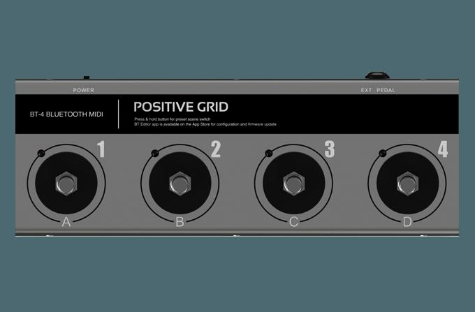 Positive Grid BT-4 Bluetooth MIDI Pedal
