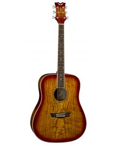 Dean AXS Dreadnought Acoustic Guitar Quilt Ash Tobacco Sunburst AX DQA TSB AX DQA TSB