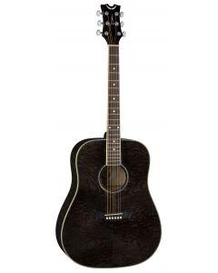 Dean AXS Dreadnought Quilt Ash Acoustic Guitar Trans Black AX DQA TBK AX DQA TBK