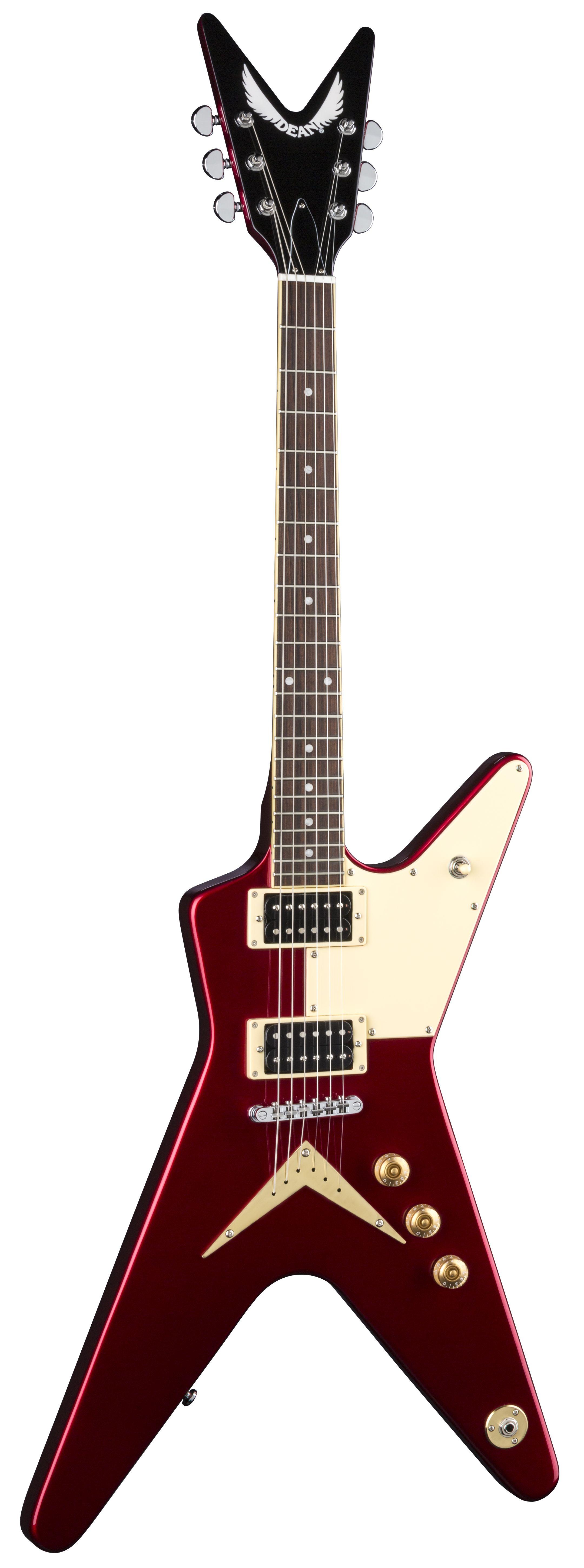 Dean Ml 79 Standard W Half Pg Metallic Red Electric Guitar Ml 79 Pg Mr