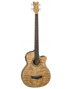 Dean Exotica Quilt Ash Acoustic Electric Bass GN EQABA GN EQABA GN