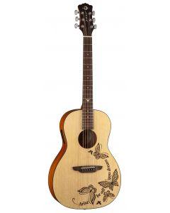 Luna Gypsy Dream Parlor Acoustic Guitar w/Tuner Satin Natural GYP DREAM GYP DREAM