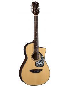 Luna Gypsy Zodiac Parlor Acoustic Electric Guitar GYP ZODIAC GYP ZODIAC
