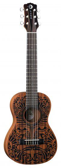 Luna Uke Tribal Mahogany 6 String Baritone UKE TRIBAL 6