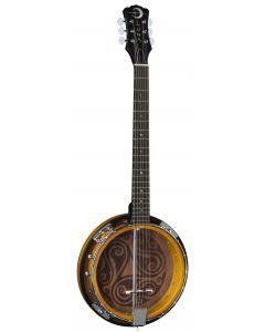 Luna Banjo Celtic 6-String Tobacco Burst BGB CEL 6 BGB CEL 6