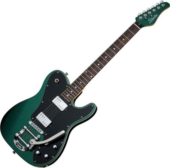 Schecter PT Fastback II B Electric Guitar in Dark Emerald Green Finish