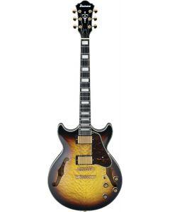 Ibanez AM Artcore Expressionist AM93QM Antique Yellow Sunburst AYS Hollow Body Electric Guitar AM93QMAYS