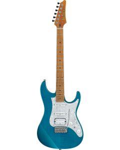 Ibanez AZ Prestige AZ2204F TAB Transparent Aqua Blue Electric Guitar w/Case AZ2204FTAB