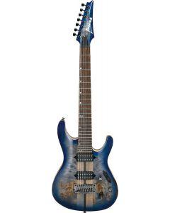 Ibanez S Premium 7 String Cerulean Blue Burst S1027PBF CLB Electric Guitar w/Case S1027PBFCLB