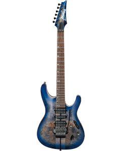 Ibanez S Premium S1070PBZ CLB Cerulean Blue Burst Electric Guitar w/Case S1070PBZCLB