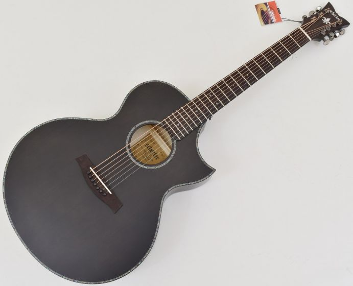 Schecter Orleans Stage-7 String Acoustic Guitar in See Thru Black Satin