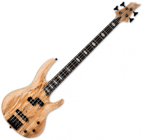 ESP LTD RB-1004SM Solid Spalted Maple Top Electric Bass Natural Satin B Stock