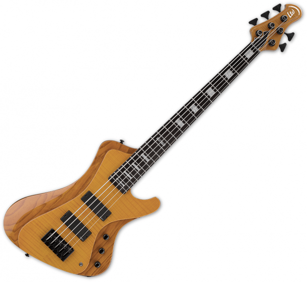 ESP LTD Stream-1005 Flamed Maple 5 String Electric Bass Honey Natural B Stock