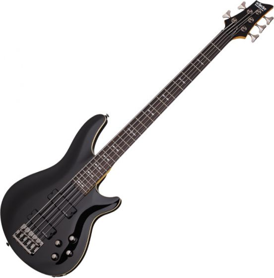 Schecter Omen-5 Electric Bass in Gloss Black Finish