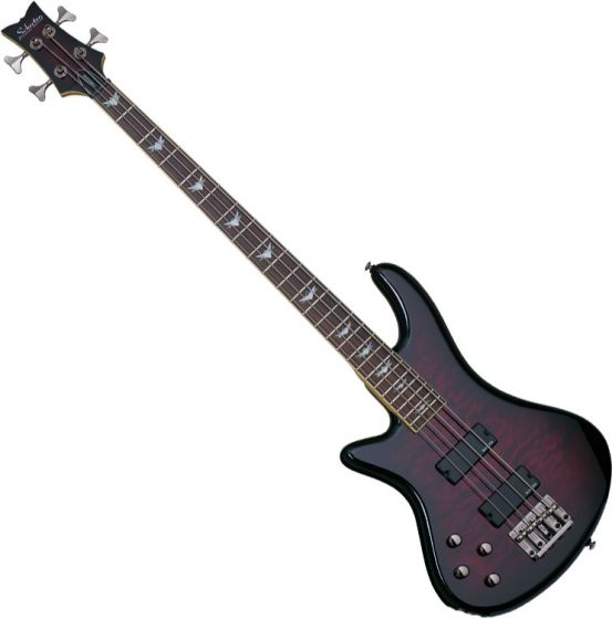 Schecter Stiletto Extreme-4 Left-Handed Electric Bass Black Cherry