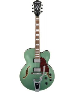 Ibanez AFS75T MGF AFS Artcore 6 String Metallic Green Flat Semi Hollow Body Electric Guitar AFS75TMGF