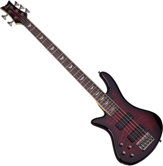 Schecter Stiletto Extreme-5 Left-Handed Electric Bass Black Cherry