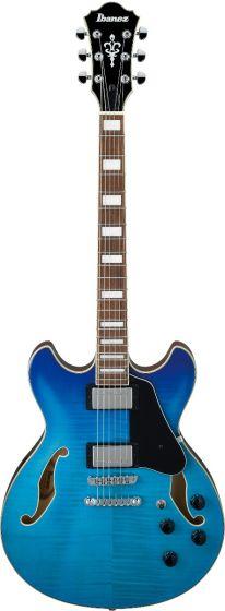 Ibanez AS73FM AZG AS Artcore Azure Blue Gradation Semi-Hollow Body Electric Guitar