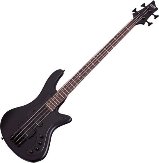 Schecter Stiletto Stealth-4 Electric Bass Satin Black