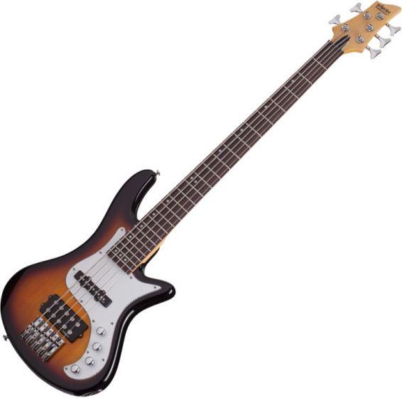 Schecter Stiletto Vintage-5 Electric Bass 3-Tone Sunburst