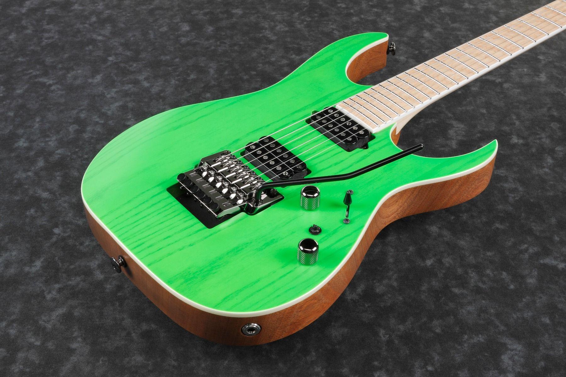 Ibanez Rgr5220m Tfg Rg Prestige 6 String Transparent Fluorescent Green