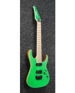 Ibanez RGR5227MFX TFG RG Prestige 7 String Transparent Fluorescent Green Electric Guitar w/Case
