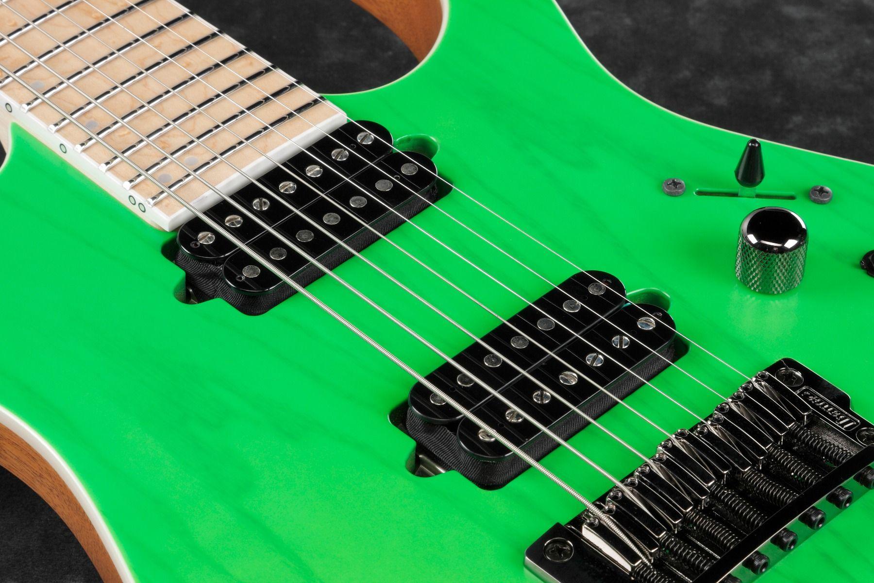 Ibanez Rgr5227mfx Tfg Rg Prestige 7 String Transparent Fluorescent Gre