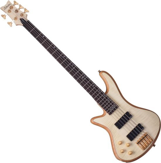 Schecter Stiletto Custom-5 Left-Handed Electric Bass Gloss Natural