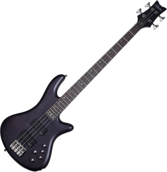 Schecter Stiletto Studio-4 Electric Bass See-Thru Black Satin