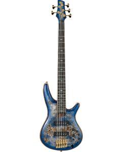 Ibanez SR Premium SR2605 5 String Cerulean Blue Burst Bass Guitar SR2605CBB