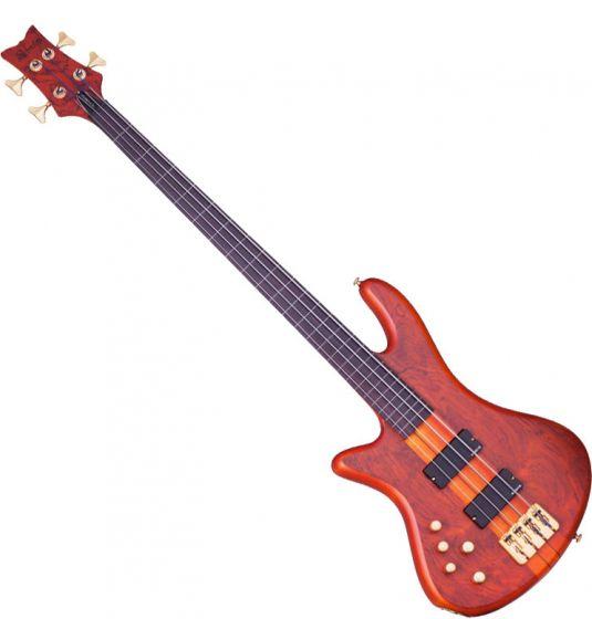 Schecter Stiletto Studio-4 FL Left-Handed Electric Bass Honey Satin