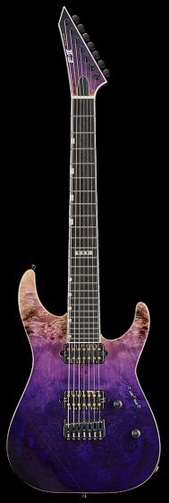 ESP E-II M-II 7 NT Purple Natural Fade Electric Guitar w/Case