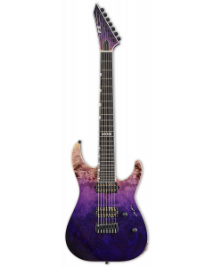 ESP E-II M-II 7 NT Purple Natural Fade Electric Guitar w/Case EIIMII7NTHSPRNFD