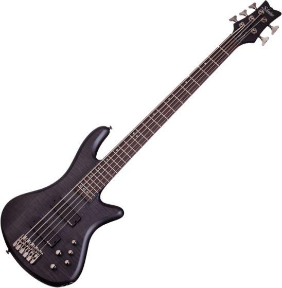 Schecter Stiletto Studio-5 Electric Bass See-Thru Black Satin