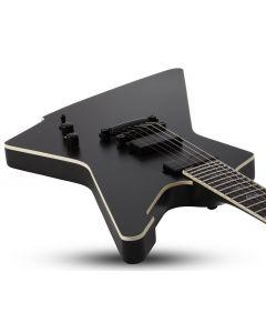 Schecter E-1 SLS Elite Evil Twin Electric Guitar in Satin Black