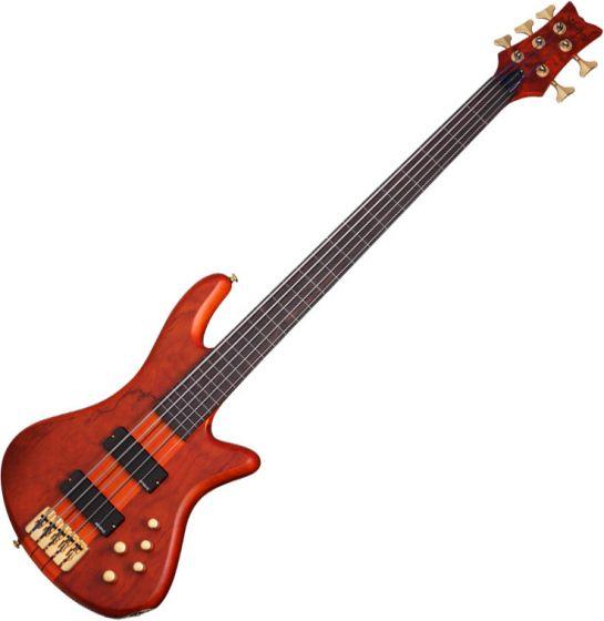 Schecter Stiletto Studio-5 FL Electric Bass Honey Satin